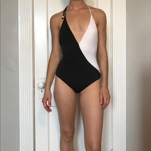 Victoria's Secret two tones one piece swim suit